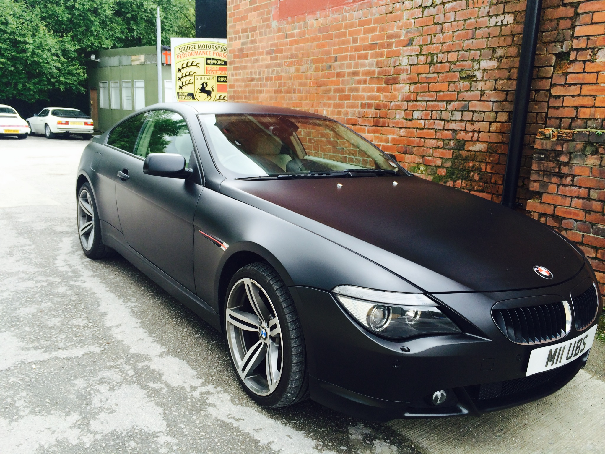 Black Satin Wrapped BMW 6 Series
