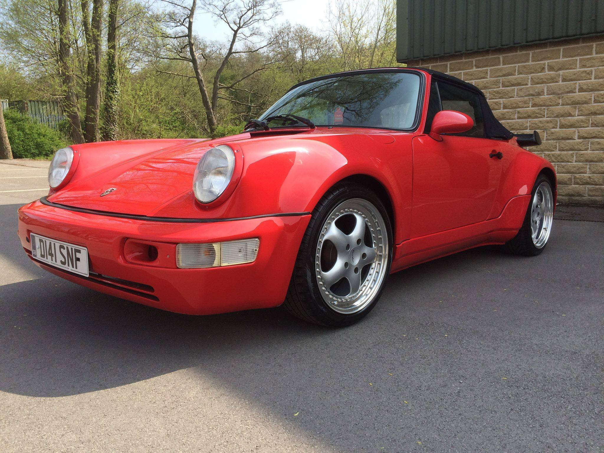 GLEAMING GUARDS RED 3.2 CABRIOLET JUST RESTORED