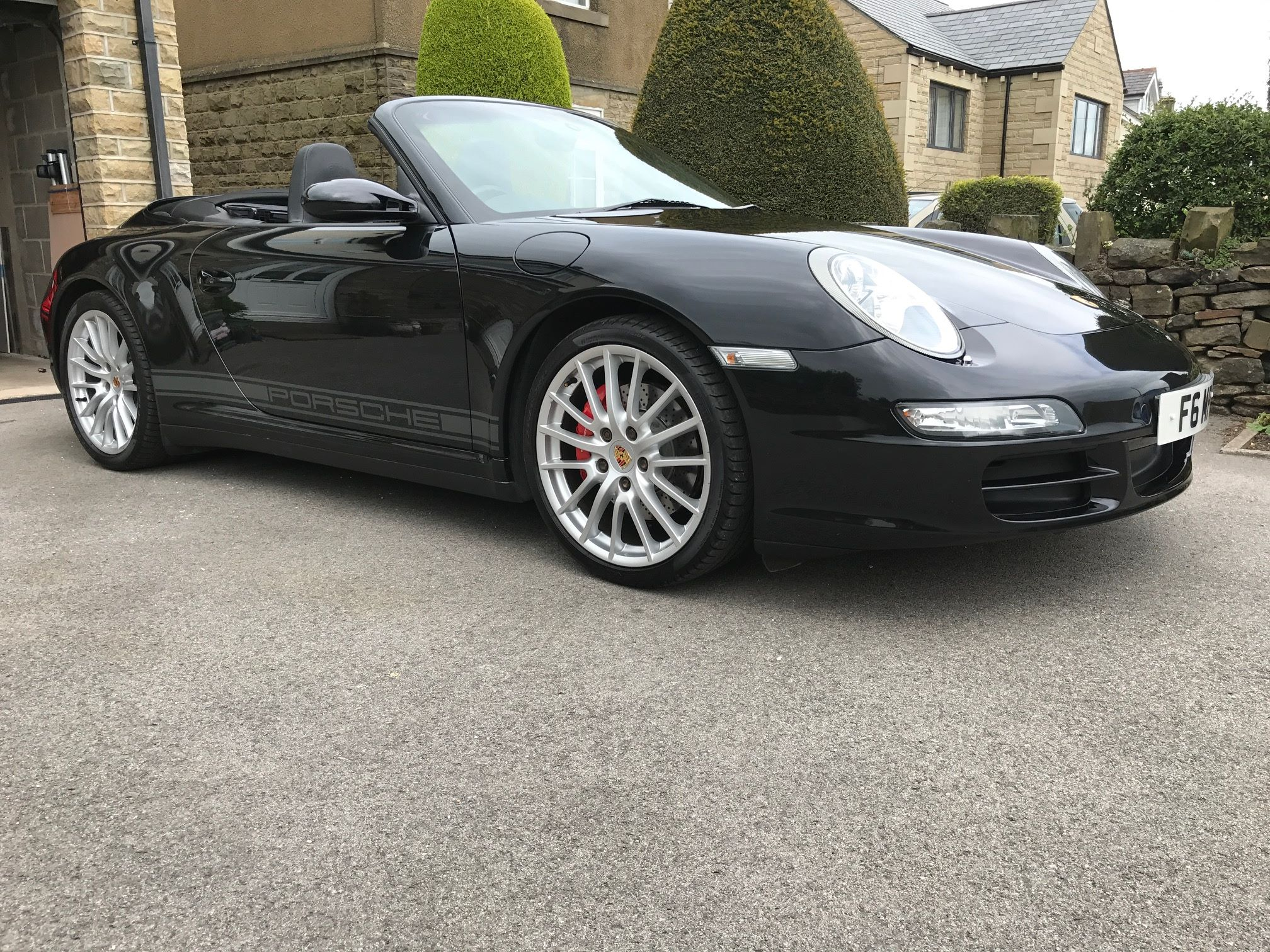 Porsche Graphics Fitted To 997 Cab