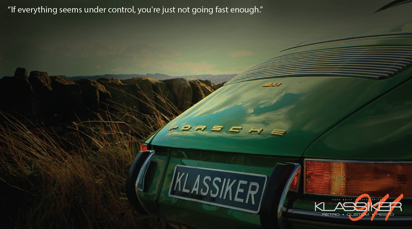 If Everything Seems Under Control, You're Just Not Going Fast Enough!