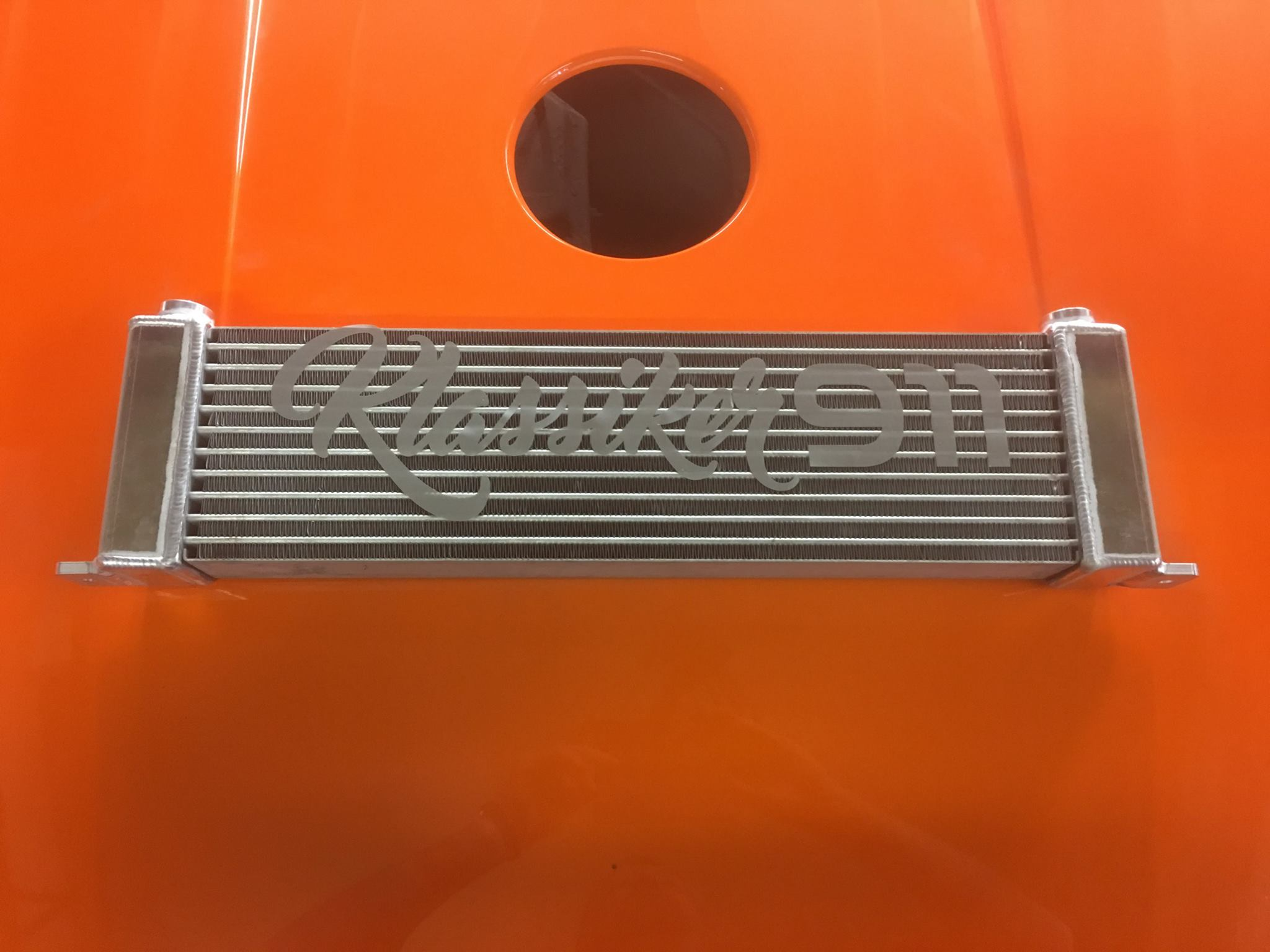 Custom Built Alloy Oil Cooler For Nics RSR