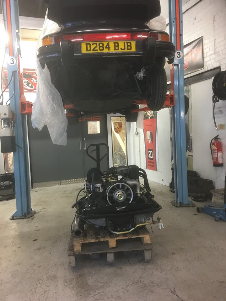 Freshly Detailed Engine Almost Ready For Restored 86 3.2 Targa
