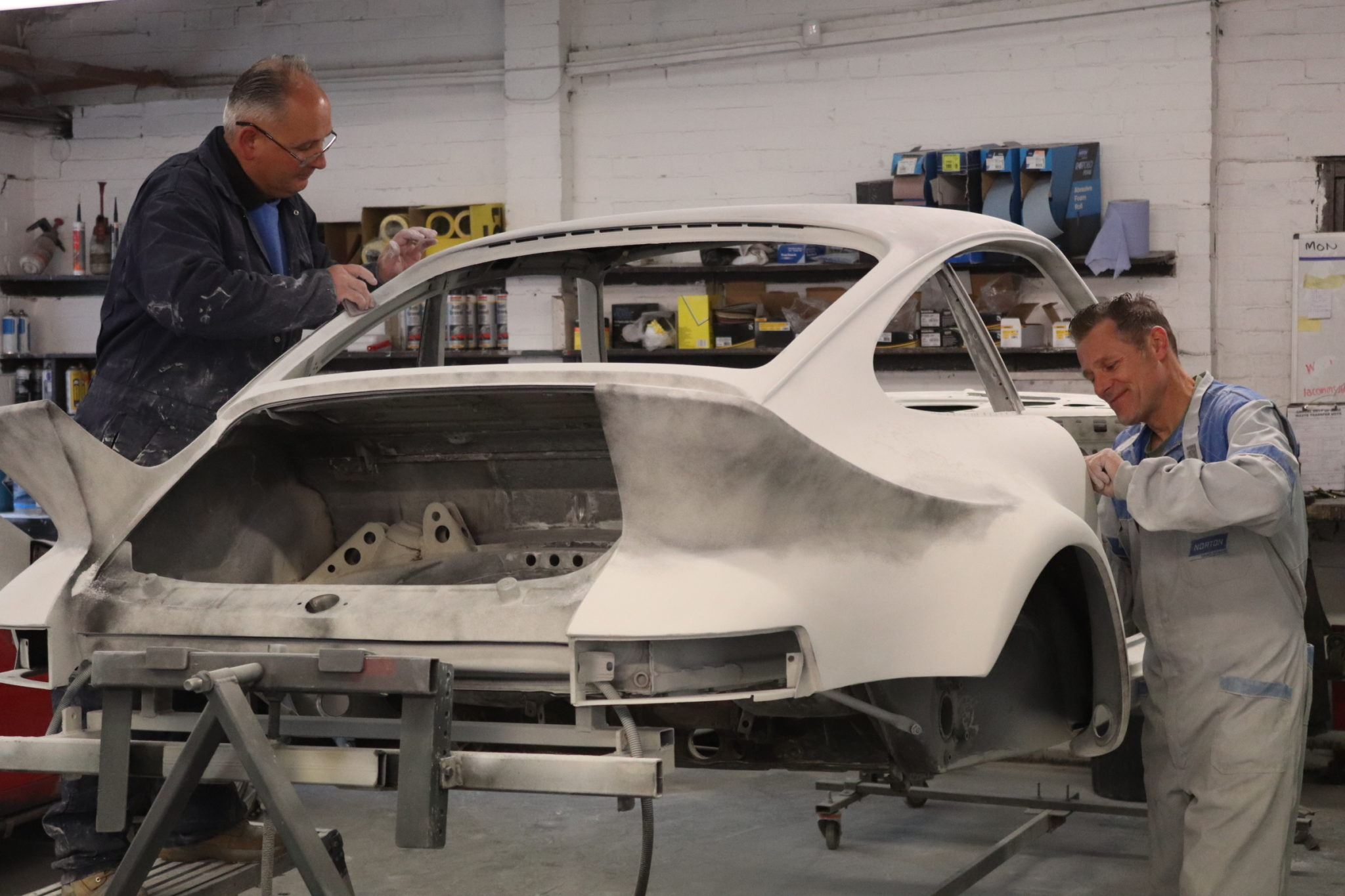 Porsche RSR Paint Preparation.