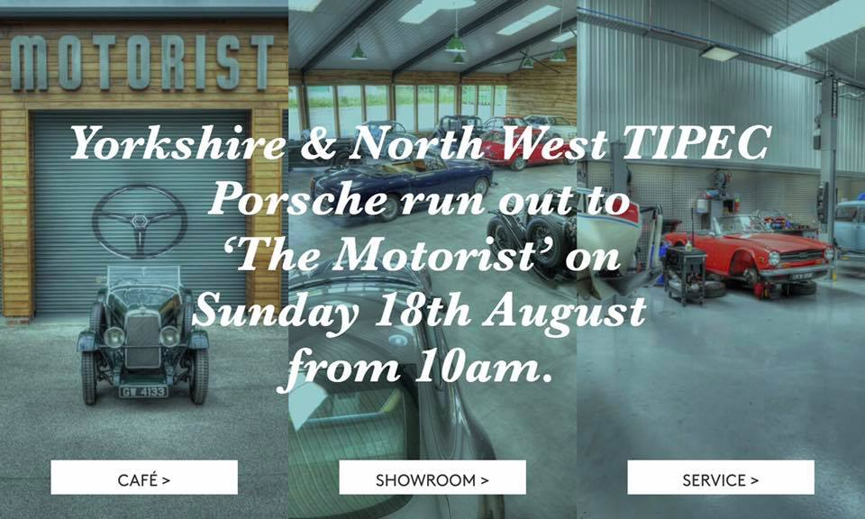 TIPEC Porsche Run Out To The Motorist Sunday 18th 10am